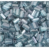 Tubes Square Beads 7X3.4mm Square Hole Green Luster